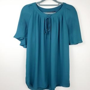 Apt. 9   Forest Green Fall Flowy Batwing Blouse
